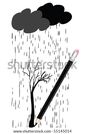 clipart of rain. stock vector : Doodle clip-art