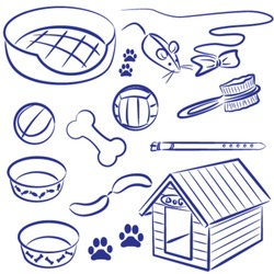 Doodle collection of pet supplies for dogs and cats