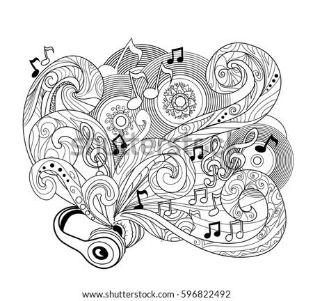 doodle design headphoneszenart