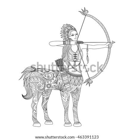doodle design of centaur girl