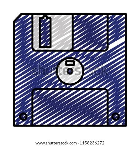 doodle diskette retro computer data media