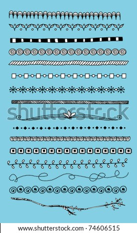 Doodle dividers, borders