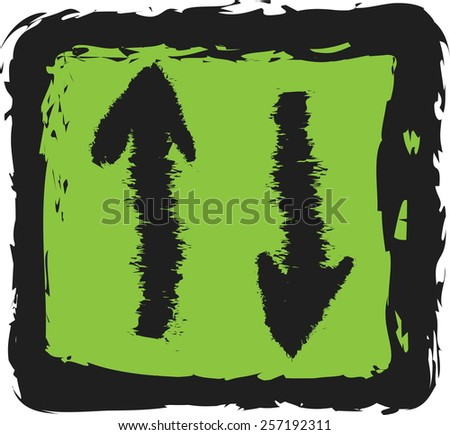 doodle download sign  vector