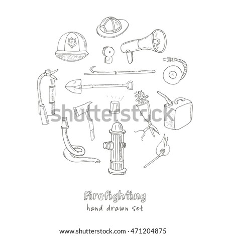 doodle fire fighting tools set...