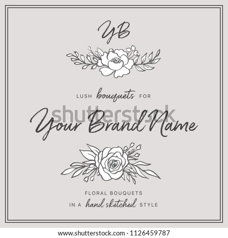 Doodle Floral Bouquets - Set includes two beautiful floral bouquets. These designs have lush flowers and foliage, and were sketched by hand before being vectorized.