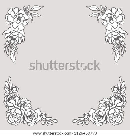 Doodle Floral Corner Bouquets - Set includes two beautiful floral bouquets. These designs have lush flowers and foliage, and were sketched by hand before being vectorized.