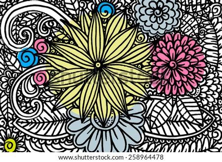 doodle flowers zentangl floral