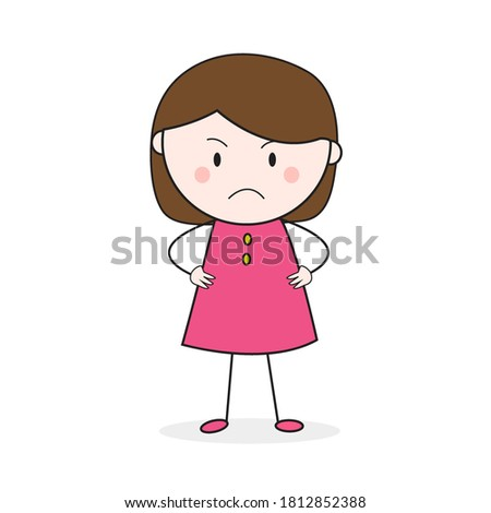 717 Frowning Girl Illustrations, Royalty-Free Vector Graphics & Clip Art -  iStock