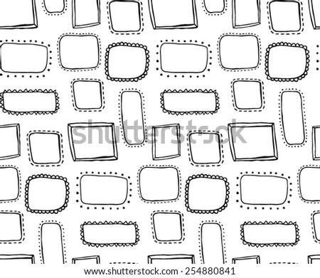 doodle hand drawn frames