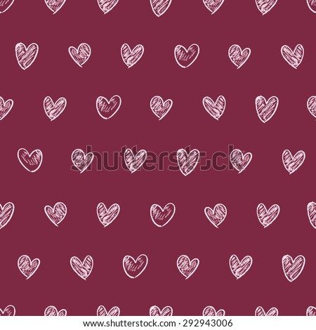 doodle heart background