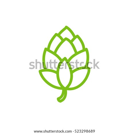 Shutterstock doodle icon. hop. vector illustration