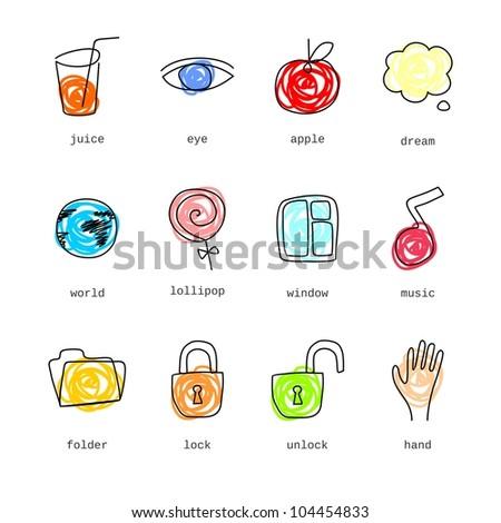 Doodle icons set part 2 (vector version)