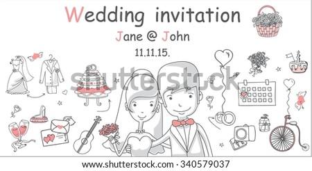 Cute Wedding Planner Set - Download Free Vector Art, Stock ...
