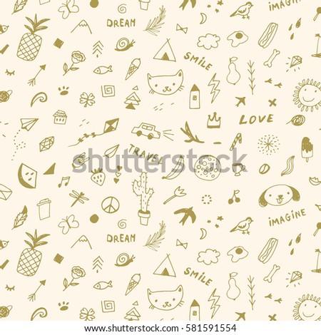 doodle objects pattern