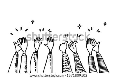 doodle of hands up hands
