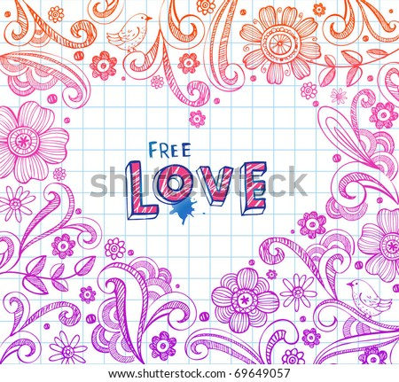 Doodle ornamental frame, Vector illustration