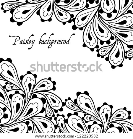 Doodle paisley background.