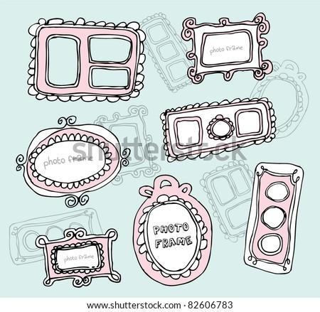 doodle photo frames
