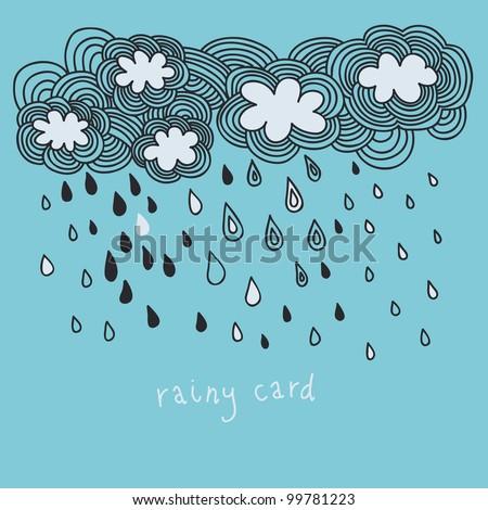 doodle rain background cartoon