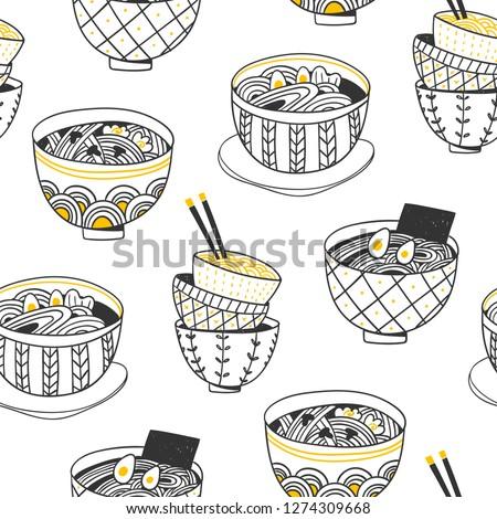 doodle ramen various noodle