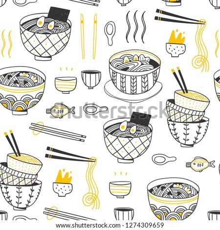 doodle ramen various noodles