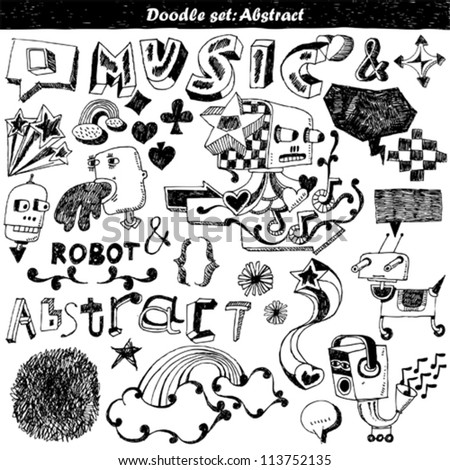 doodle set - abstract elements