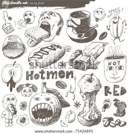 doodle set - crazy food