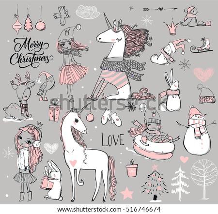 doodle set   princess with