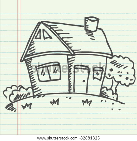 doodle sketch home illustration