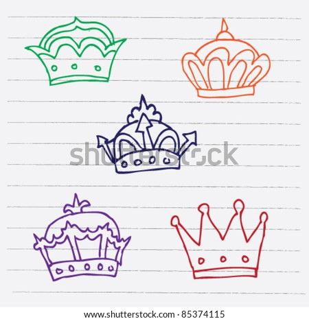 doodle sketch illustration of crown