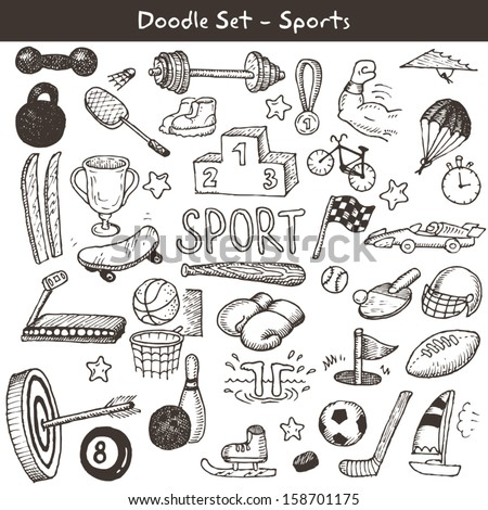 doodle sports vector