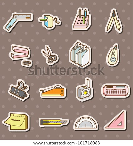 doodle stationery stickers