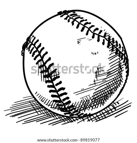 doodle style baseball sports