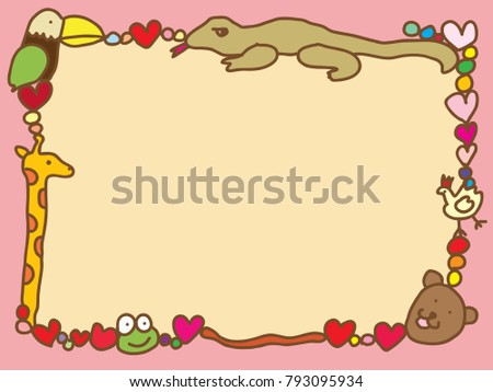 doodle style border in