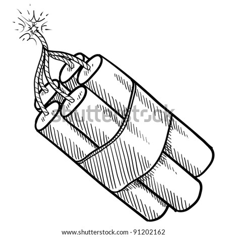 Doodle style bundle of dynamite illustration in vector format suitable for web, print, or advertising use.
