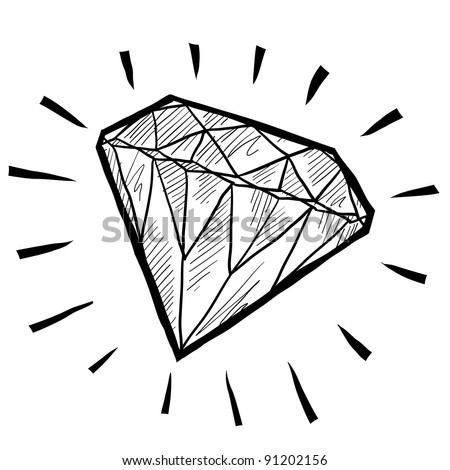 Doodle style diamond or wealth icon illustration in vector format suitable for web, print, or advertising use.