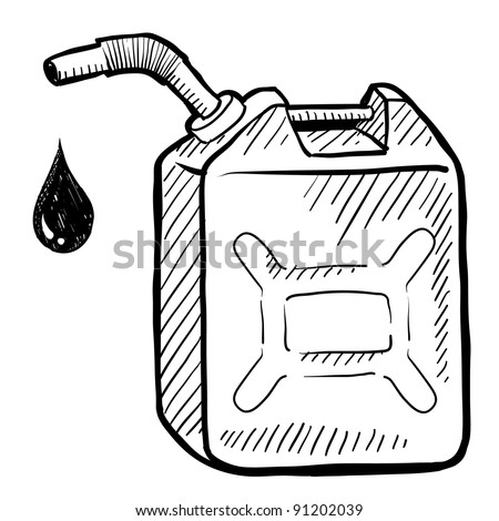 Doodle style gasoline can illustration in vector format suitable for web, print, or advertising use.