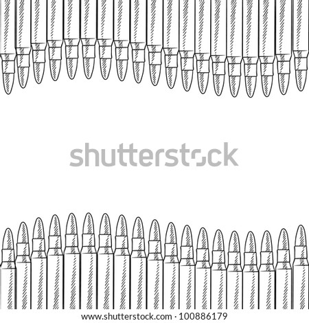 Doodle style seamless bullet border illustration in vector format
