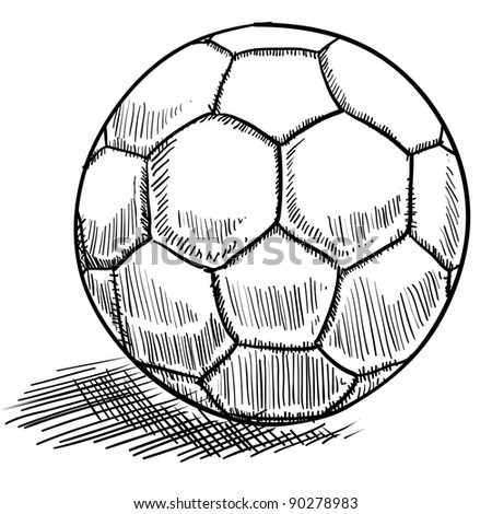Doodle style soccer or futbol vector illustration