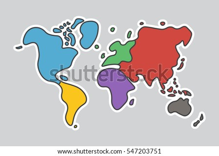 Vector de mapa de amrica del sur descargue grficos y vectores gratis doodle style world map look like children craft painting gumiabroncs Images