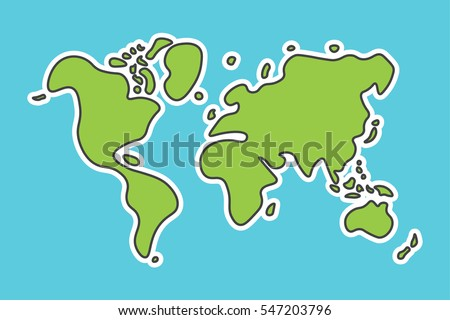 Sketch world map vectors download free vector art stock graphics doodle style world map look like children craft painting gumiabroncs Images