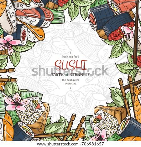 doodle sushi restaurant menu