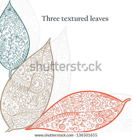 stock-vector-doodle-textured-leaves-background