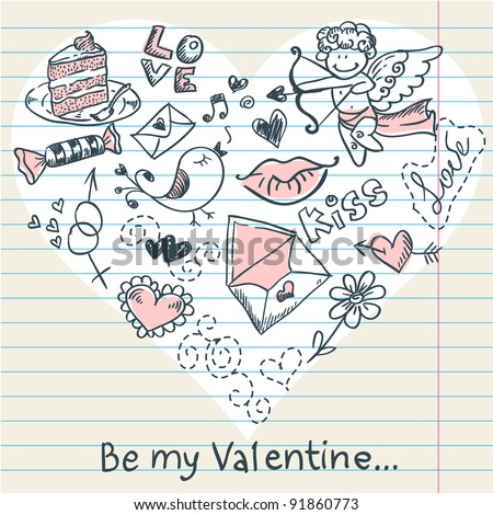 doodle valentine's day