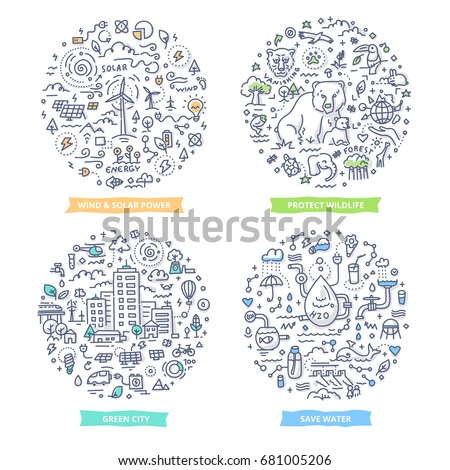 doodle vector concepts of