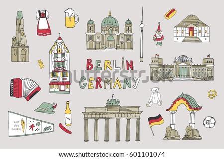 doodle vector germany berlin