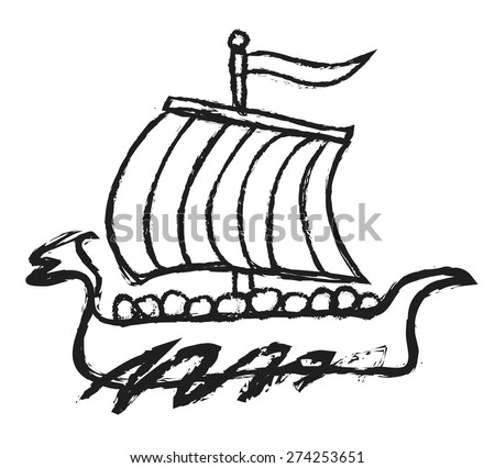 Vector Viking Ship - Download Free Vector Art, Stock Graphics & Images