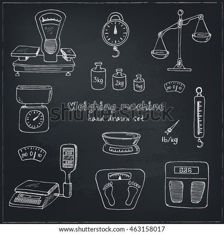 doodle weighing machine set ...
