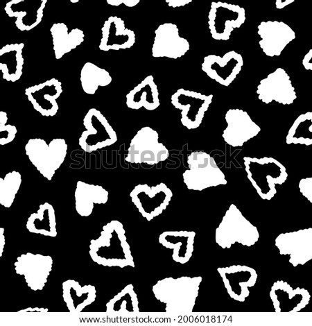 doodled hearts seamless repeat