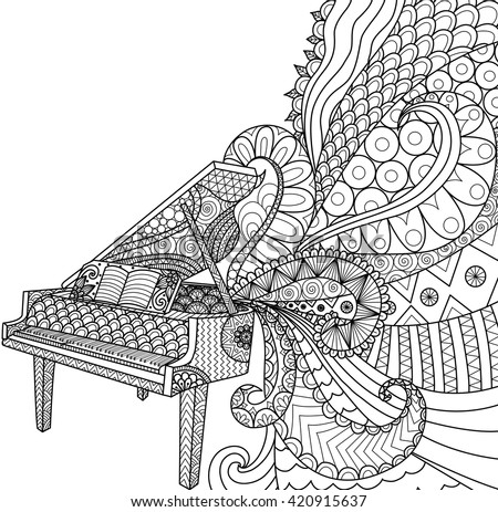 doodles design of piano for